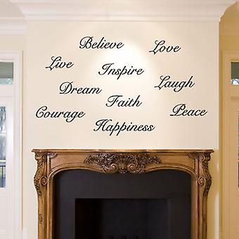 Dream Believe Inspire Decal Live Love Wall Sticker