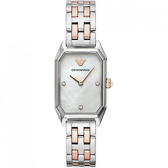 Armani Watches Armani Ar11146 Silver & Rose Gold Stainless Steel Women's Watch