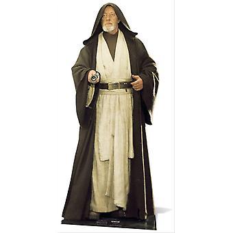 Obi-Wan Kenobi Alec Guinness Star Wars grandeur nature en carton Découpe / Standee / Standup