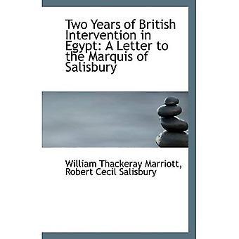 Dwa lata interwencji brytyjskiej w Egipcie: list do markiza Salisbury