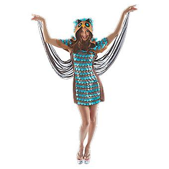 Orion Costumes Women's Blue Owl Novelty Animal Fancy Dress Costume