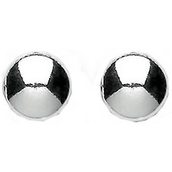 Bella Small Flat Button Stud Earrings - Silver