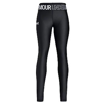 Under Armour Heatgear Armour Logo Girls Fitted Baselayer Legging Black