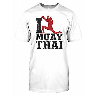 Jag älskar Muay Thai barnen T Shirt