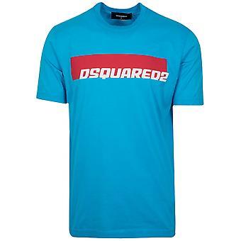 Dsquared2 DSQUARED2 Turquoise Logo impression T-Shirt