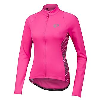 Pearl Izumi Screaming Pink Whirl Select Pursuit Thermal Womens Long Sleeved Cycl