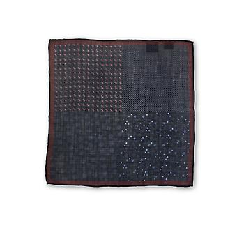 Olymp Pocket Square in navy multiple pattern
