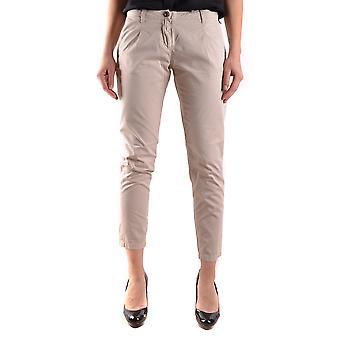 Etiqueta Negra Beige Cotton Pants