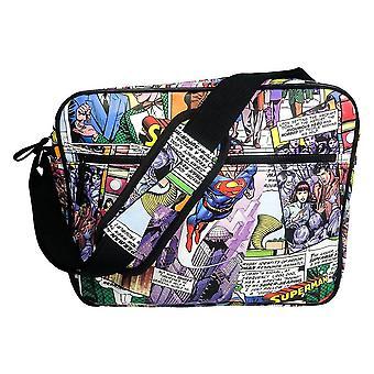 Superman Comic Strip Messenger Bag