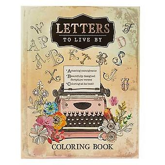 Coloring Book Letters to Live by - 9781432116897 Book