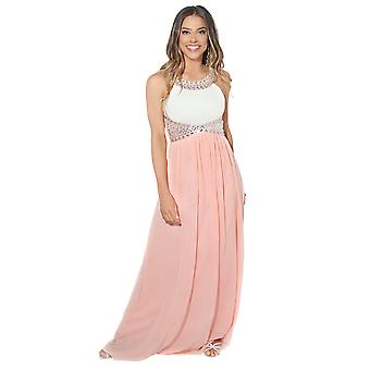 KRISP  Women Formal Diamante Wedding Cocktail Long Ball Gown Prom Maxi Dress Party 8-18