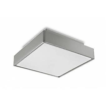 2 Light Small Outdoor Ceiling Light Grey Ip65