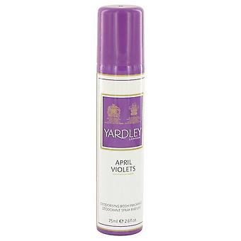 April Violets Body Spray By Yardley London 77 ml