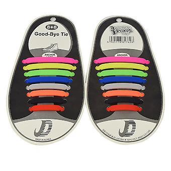 Lacci delle scarpe alla moda che non hanno bisogno di essere legato colore 8 coppie miste