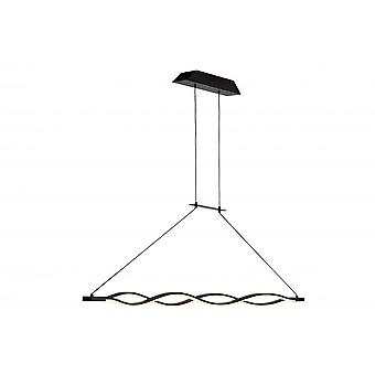 Mantra Sahara Pendant 36W LED 2800K, 2520lm, Dimmable Frosted Acrylic/Brown Oxide, 3yrs Warranty