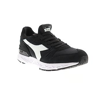 Diadora Titan Reborn Chromia Mens Black Suede Sneakers Low Top Shoes