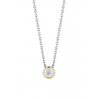 Ti Sento 3845MW necklace - silver double mother-of-pearl set d or gold Women
