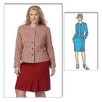 Misses' Women's Jacket And Skirt  Miss Xsm  Sml  Med  Lrg  Xl Pattern B5574  Mis