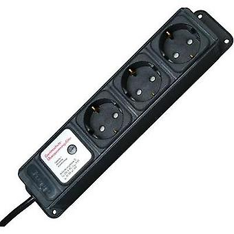 Surge protection socket strip 3x Anthracite PG connector Kopp 127915010