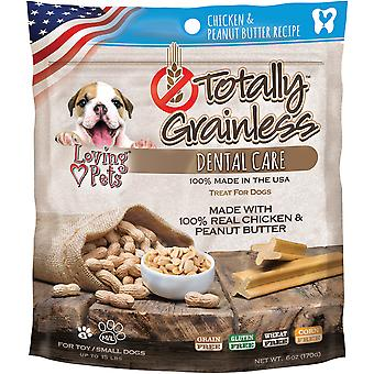 Totally Grainless Dental Bones For Large Dogs 6oz-Chicken & Peanut Butter LP5306