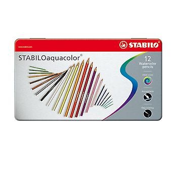 STABILO Aquacolor Metallkasten, 12pcs.