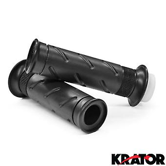 Black Motorcycle Handle Bar Hand Grips 7/8