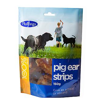 Hollings gris øre strimler vise 150g (Pack af 8)