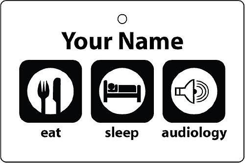 Personalised Eat Sleep Audiology Car Air Freshener