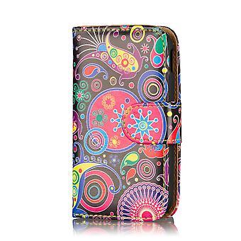 Design-Bucheinband Leder Case für Motorola Moto G 2013 Edition - Qualle
