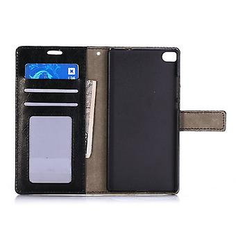 Pocket wallet premium black for Huawei Ascend P8