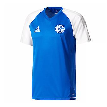 2017-2018 Schalke Adidas Training Jersey (Blue) - Kids
