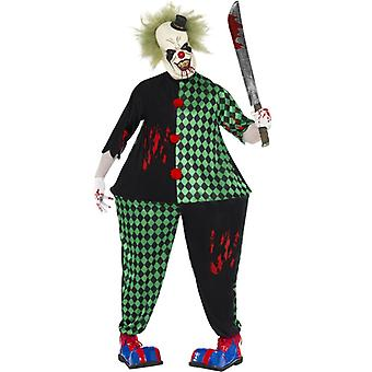 Fetter Horror Clown Kostüm Halloween Saw Psychoclown GrM