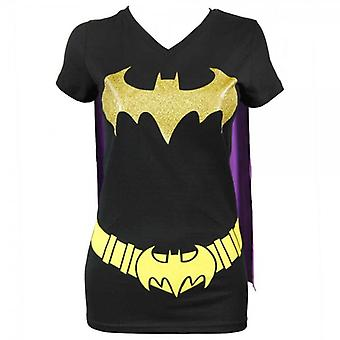 Batman Ladies DC Comics Batman Cape T Shirt Black