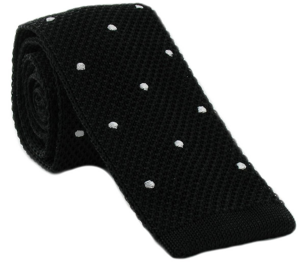 Michelsons of London Spot Design Tie - Black/White
