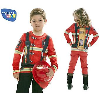 Yiija Mr. & Mrs. Child shirt Firefighter (Costumes)