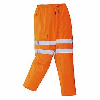sUw - Hi-Vis Sicherheit Arbeitskleidung Rail Track Seite Jogging Bottoms Hose