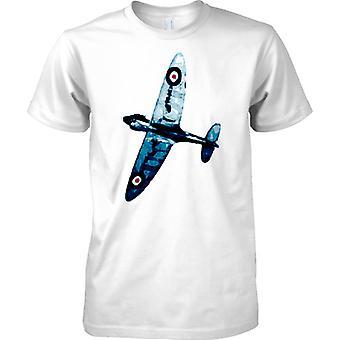 Spitfire Blue Colour - WW2 Fighter Aircraft - Mens T Shirt