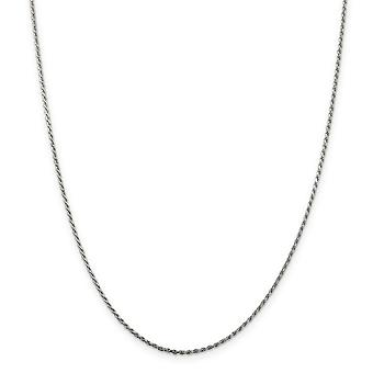 スターリング シルバー 1.5 mm スパークル カット ロープ チェーン ネックレス - 長さ: 16 に 36