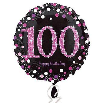 Festa di compleanno di pietra miliare Amscan tondo Palloncino foil (età 18-100)