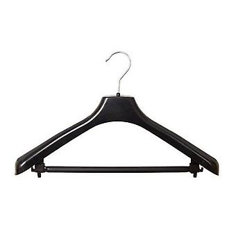 Caraselle Durable Recycled Black Shaped Hanger with Chrome Hook - 44cm