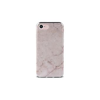 Puro iPhone 8/7/6/6S, Marble Cover, rosa
