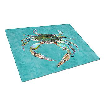 Carolines Treasures  8657LCB Crab  Glass Cutting Board Large