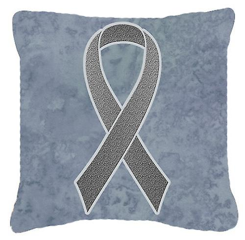 Pour Cancer Tissu Décoratif Gris Toile Oreiller Brain Ruban Awareness Ifv7gbY6y