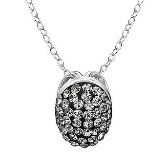 Oval - 925 Sterling Silber jeweled Halsketten - W28234x