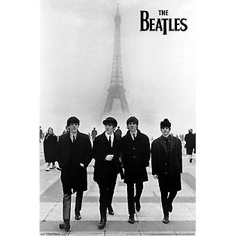 Beatles - Wieża Eiffla plakat Poster Print