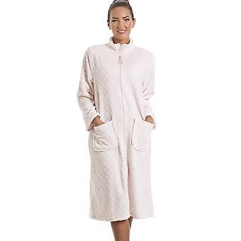 Camille Soft Fleece rosa Zip Vorderhaus Mantel