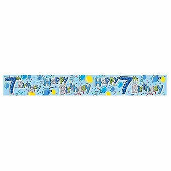 Expression Factory Childrens/Kids Happy 7th Birthday Holographic Foil Banner