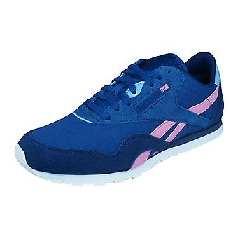 Reebok Classic Nylon Slim Colors Womens Trainers / Shoes - Blue