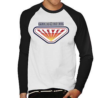 Stranger Things Eleven Arcade Hawkins 1984 Men's Baseball Long Sleeved T-Shirt