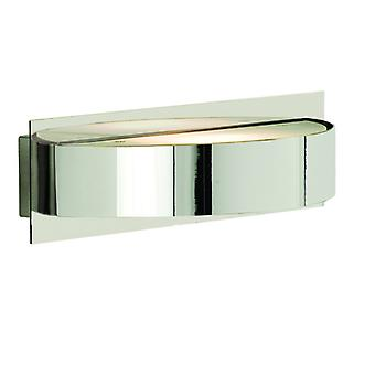 Chrome Half Circle Wall Light With Glass Diffuser - Searchlight 2692cc
